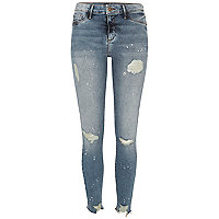 Authentic wash ripped paint Molly jeggings