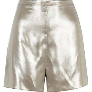 Silver soft high rise shorts