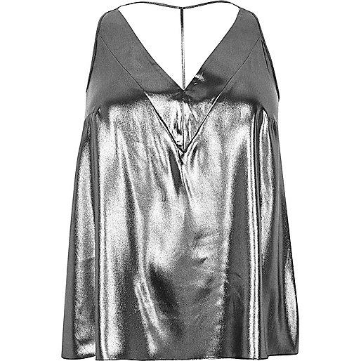Plus silver T-bar cami top