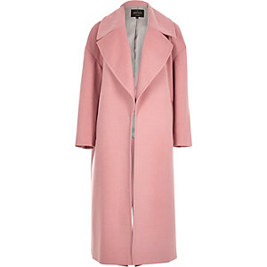 Pink soft oversized coat