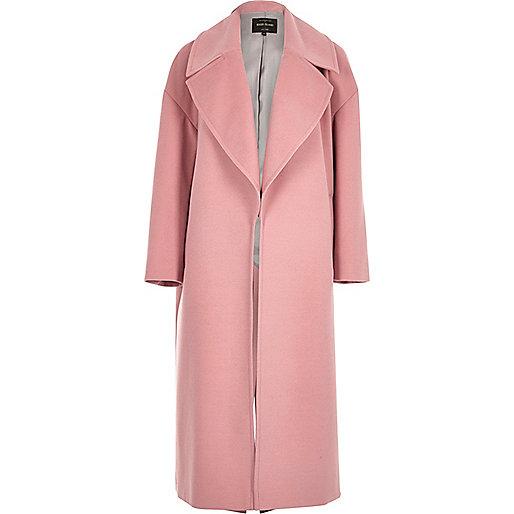Pink soft oversized coat