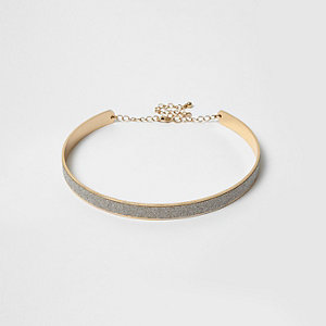 Goldener Glitzerchoker
