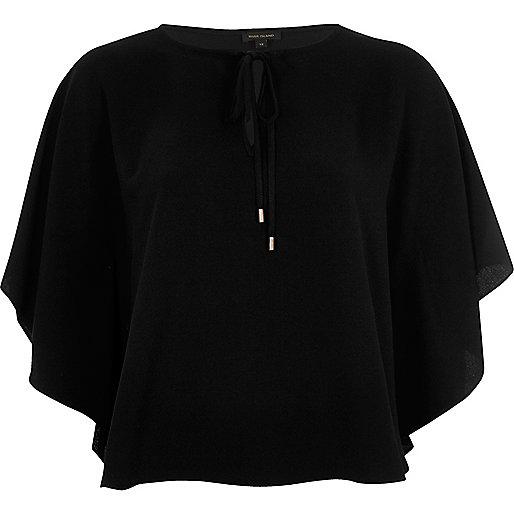 Black poncho top
