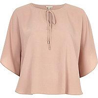 Blush pink poncho top