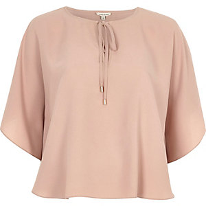 Blush pink poncho top