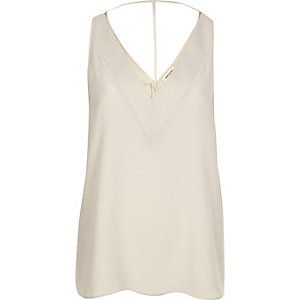 Dark cream T-bar cami top