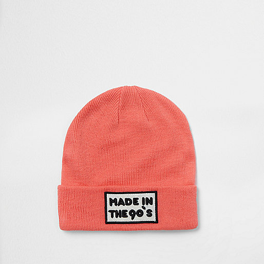 Pink 'Made in the '90s' beanie