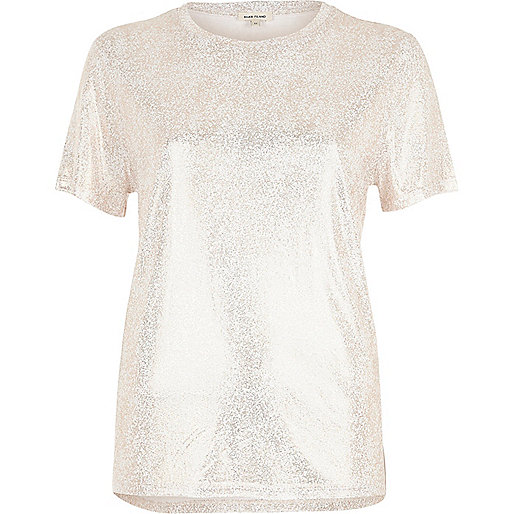 Rose gold metallic T-shirt