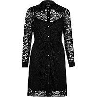 Dolly – Schwarzes Blusenkleid aus Spitze