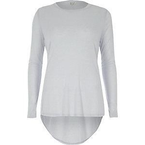 Light blue basic jersey top