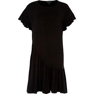 Black frill smock dress