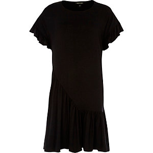 Black frill smock dress