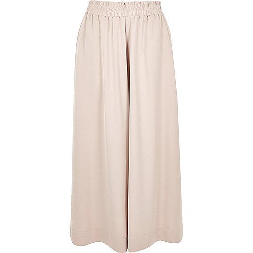 Pink soft wide leg culottes