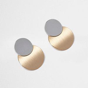Metallic circle drop earrings
