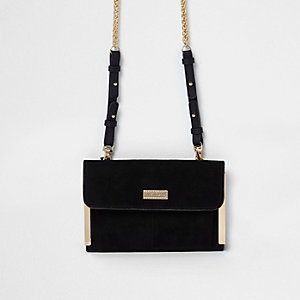 Black chain strap mini shoulder bag