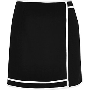Black sports mini skirt