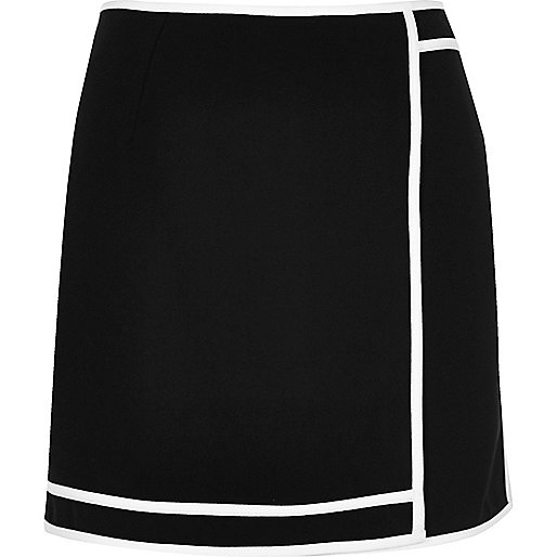 Black sports mini skirt