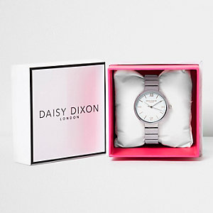 Daisy Dixon white plated watch