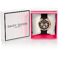 Daisy DIxon black textured strap watch