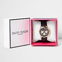 Daisy Dixon dark red strap watch