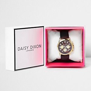 Daisy Dixon dark red strap watch