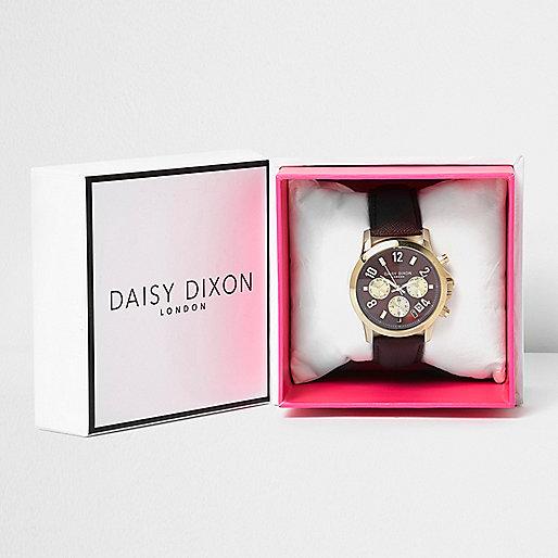 Daisy Dixon burgundy strap watch