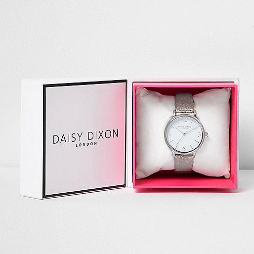 Daisy Dixon metallic grey strap watch