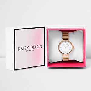 Daisy Dixon rose gold tone plate watch