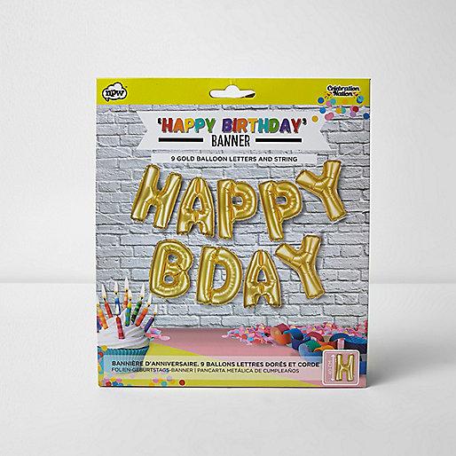 Happy Birthday – Ballon-Banner