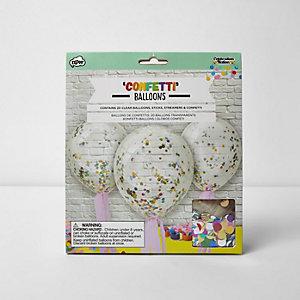 Ballons imprimés confettis
