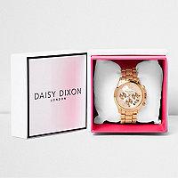 Daisy Dixon rose gold tone chain watch