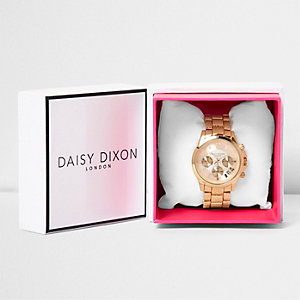 Daisy Dixon rose gold tone chain watch