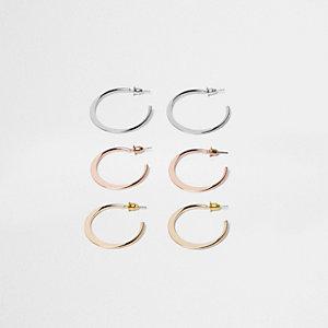 Mixed hoop earring pack