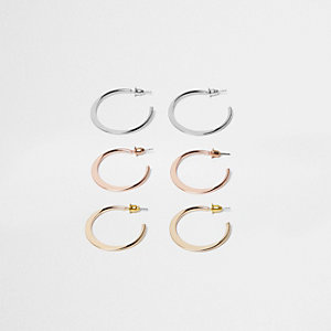 Mixed hoop earring pack