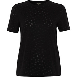 Burnout-T-Shirt mit Sternenmuster