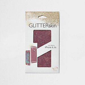 Pink iPhone 6 glitter wrap case