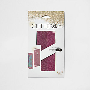 Pink IPhone 7 glitter wrap case