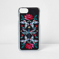 Black embroidered iPhone 7 case