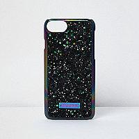 Coque pailletée noire pour iPhone 7