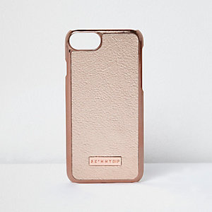 Coque couleur or rose pour iPhone 7