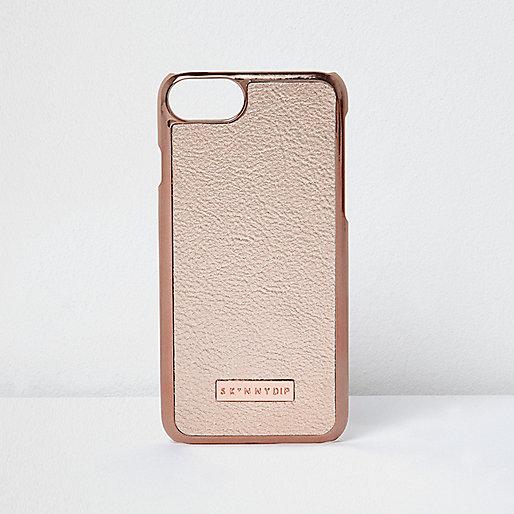 Rose gold tone iPhone 7 case