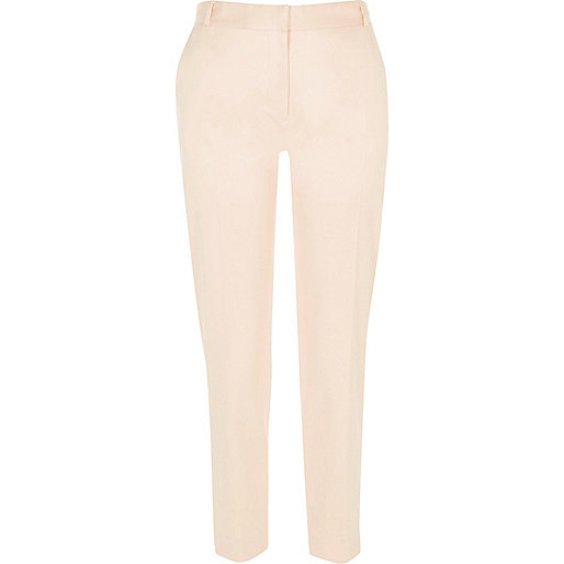Nude slim smart trousers