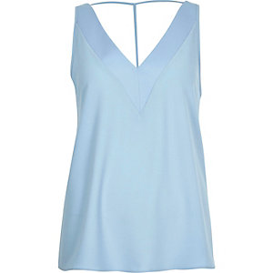 Baby blue T-bar cami top
