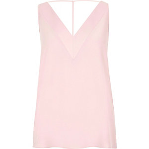 Pink T-bar cami top