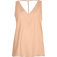 Nude T-bar cami top