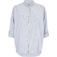 Blue stripe relaxed shirt