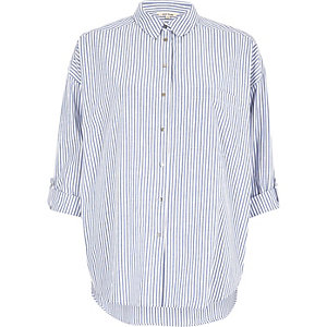 Blue stripe relaxed shirt