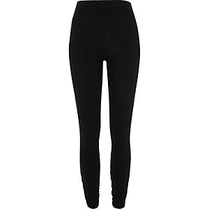 Black ruched hem leggings