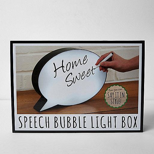 Boîte lumineuse bulle à texte