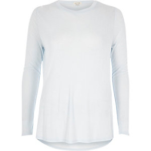 Light blue jersey basic top